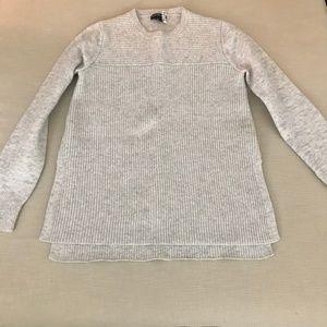 Club Monaco: Grey Crew Neck Wool Sweater
